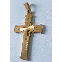 Pingentes Crucifixos Banhado A Ouro 18k - Super Promoção