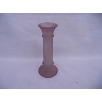 Antigo Vaso Solifer Em Vidro Rosa (cod.574)