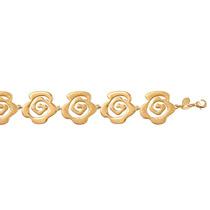 Pulseira Flores Folheado Ouro 18k Semijoia Antialérgica