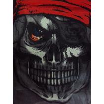 Touca Máscara Esqueleto Pirata De Tecido Meia Pronta Entrega