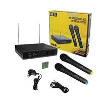 Microfone Sem Fio Duplo Uhf 261 Skp Pro Audio