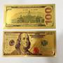 Cédula De 100 Dólares Folheada A Ouro