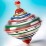Pião Alumínio Brinquedo Educativo Criança Antigo Sonoro Lata