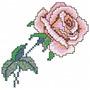 Rosas Em Ponto Cruz - Coleção De Matriz De Bordado