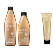 Redken All Soft Kit Shampoo + Condicionador + Heavy Cream