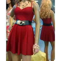Pronta Entrega Vestido Vermelho Cereja De Alcinha E Bojo M