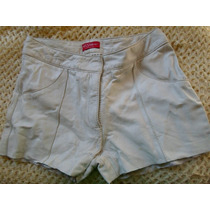 Shorts De Couro Natural Tamanho 36