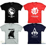 Camisetas Games Assassins Creed Gears Of War Mortal Kombat X