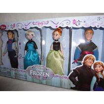 Conj Frozen Com Os 4 Bonecos 15 Cm Original Disney No Brasil