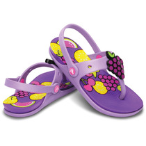 Sandália Infantil Crocs Girls Reina Wild Fruit Flipflop Orig