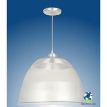 Kit 7 Luminárias Prismática 16 Ps Acrílico Com Pendente