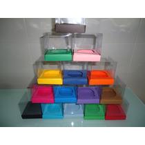 Pacote Com 10 Caixas De Acetato P/ Mini Cupcake ( Wrapper )