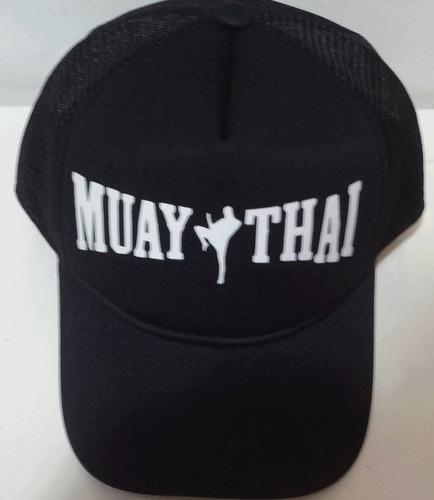 Boné Trucker Preto Silk Branco Muay Thai Kick Boxing Aba Cur ca5cddcbee1