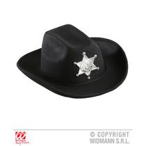 Cowboy Traje - Real Olhar Black Hat W Estrela Do Xerife Cria