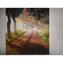 Pintura Em Tela Paisagem - Flima