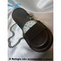 Porta Relógios De Couro Nova Importada + Corrente Promoção