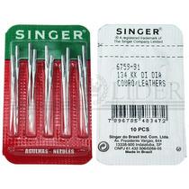 Agulha Industrial Singer Couro Ponto Cruz 6759 Kit C/10 Nº22