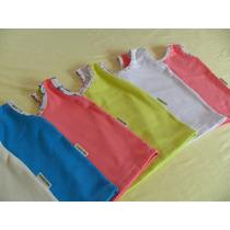 Kit Com 6 Camisetas Regatas Para Bebe