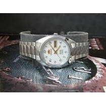 Relógio Orient Automatico Calendario Duplo Todo Em Aço Inox