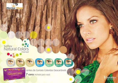 Lentes De Contato Solflex Natural Colors - Com Ou Sem Grau. Preço  R  54 99  Veja MercadoLibre 857791392d