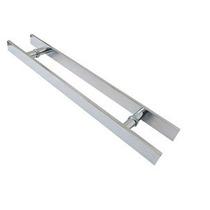 Puxador Retangular Aluminio 50cm X 30cm - Porta De Madeira