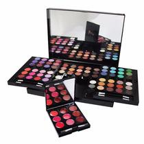 Maleta Maquiagem Profissional Acrilico + Kit Pincel + Avon