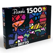 Brinquedo Quebra Cabeça Puzzle 1500 Peças Romero Britto Grow