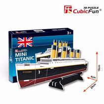 Quebra Cabeça Puzzle 3d Mini Titanic Presente Hobbie Montar