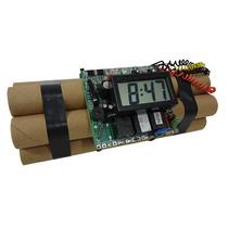 Relógio Digital Bomba Dinamite De Mesa Para Decoração