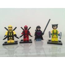Lego Deadpool Wolverine Gambit Marvel X-men Super Heróis