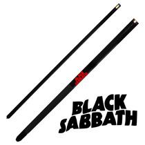 Taco De Sinuca Black Sabbath Desmontável Preto Bilhar 11071