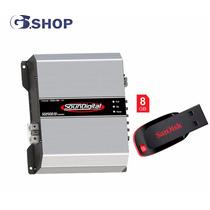 Módulo Amplificador Soundigital Sd2500.1d 1 Ohm+pendrive 8gb