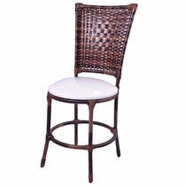Cadeira Em Junco Sintético Com Almofada