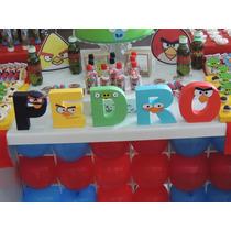 Letra 3d Aniversario Personalizado Angry Birds Scrapbook