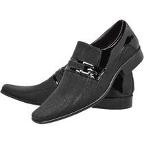 Sapato Social Masculino Couro Lançamento Dhl Calçados Franca