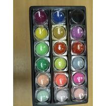 Pó Acrílico Colorido 18 Cores P/ Decoração Unhas Porcelana.