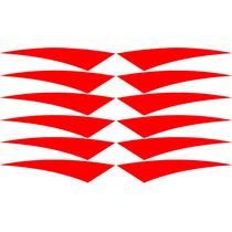 12 Adesivos Refletivos Triangular Aros Carros Bikes Motos