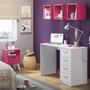 Conjunto Home Office Mash Madesa Branco/rosa 23