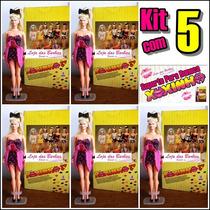 Lote Kit C/ 5 Suportes P/ Boneca Xuxinha Antiga * Xuxa Mimo