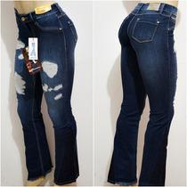 Calça Sawary Jeans Com Cintura Média Animal Print !!!