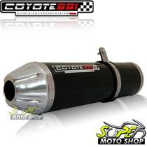 Escape Ponteira Coyote Ss1 Alum Twister 250 Oval Preto Honda