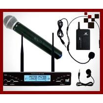 Microfone Sem Fio Duplo Tsi-ud-2000-cli Uhf