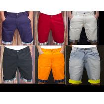 Bermuda Jeans Masculina Colorida - Fabricação Propria