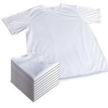 10 Camisas Brancas Lisas Sublimação Dry-fit 100% Poliester