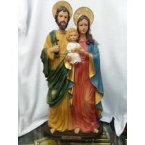 Escultura Imagem Sagrada Familia Em Resina