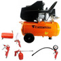 Compressor Ar 2hp Pro 4724 220v + Kit Pintura 5 Peças Akkp5