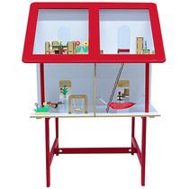 Casinha Infantil Vermelha Com Móveis 42 Itens 1150 - Carlu