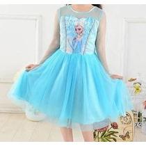 Vestido Frozen Elsa Novos Pronta Entrega Tamanho 10