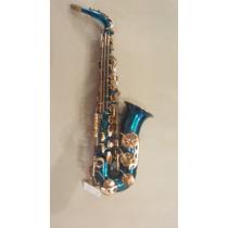 Saxofone Alto Weril Spectra Ll Azul, Mostruário 1 Ano Garant