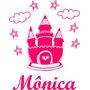 Adesivo Decorativo Parede Infantil Castelo Estrela -com Nome